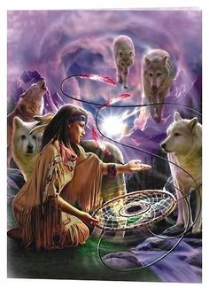 Wolves and Dream Catchers Native American Cherokee, Native American Pictures, Native American Artwork, Native American Wisdom, Native American Beauty, American Spirit, American Indian Art, Native American History, American Indians