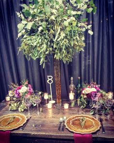 Whimsical boho style wedding table.