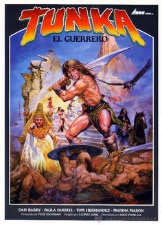 TUNKA EL GUERRERO (GUIA ORIGINAL SIMPLE) DAN BARRY - PAULA FARRELL (Cine - Guías Publicitarias de Películas )