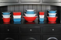 Red, White & Blue #Pyrex