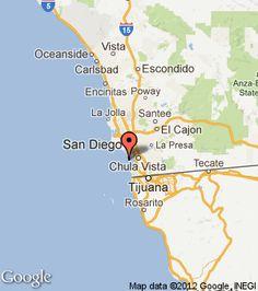 La Jolla Cove Kayak Kayaking Map Kayaking San Diego Places I - Google maps us border to rosarito mexico