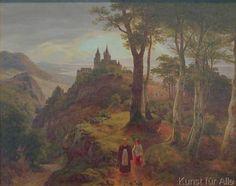 Karl Friedrich Lessing - Versehgang (Abendlandschaft mit Kloster)