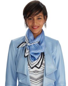 Silk Polka Dot Neckerchief Scarf - Shop Scarves and Wraps for Women - Reversible Wraps, Oblong Scarves, Print Wraps - White House Black Market Ways To Wear A Scarf, How To Wear Scarves, Scarf Knots, Scarf Dress, Circle Scarf, Neckerchiefs, Womens Scarves, Scarves For Women, Scarf Hairstyles