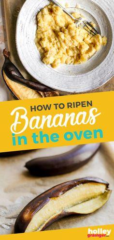 Follow this express method to ripen bananas in the oven in 25 min. Vegan Recipes Beginner, Easy Healthy Recipes, Cheap Recipes, Spicy Recipes, Sweet Recipes, Yummy Recipes, Vegan Meal Prep, Vegetarian Recipes Dinner, Kid Friendly Dinner