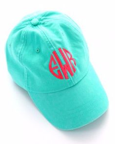 Top off your look by having #monograms from head to toe with the Monogrammed Baseball Cap from SwellCaroline.com! #MonogrammedBaseballHat {perfect for your #bridesmaids or a girls trip}