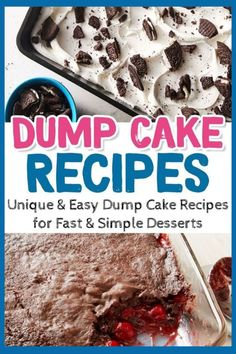 Super Simple Desserts: Easy Dump Cake Recipes For Quick and Delicious Desserts For a Crowd - Brunch Recipes Dessert Party, Köstliche Desserts, Delicious Desserts, Brunch Party, Dessert Recipes, Brunch Food, Make Ahead Desserts, Easy Brunch Recipes, Quick Easy Desserts