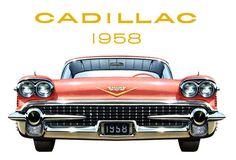Plan59 :: Classic Car Art :: Vintage Ads :: 1958 Cadillac