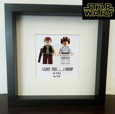 Star Wars  Wedding lego print Han solo & by MoseleyDesigns on Etsy