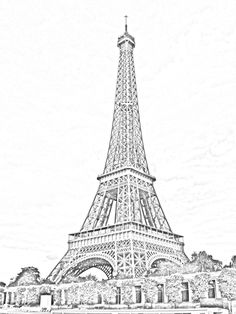 Eiffel Tower, Paris Sketchby