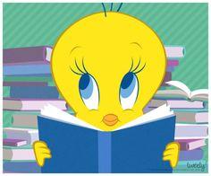 Book Worm Tweety Bird