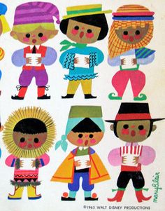 By Mary Blair kitsch vintage childrens illustrations in national costume Mary Blair, Disney Artists, Folk, Vintage Children's Books, Vintage 70s, Children's Book Illustration, Graphic Illustrations, We Are The World, Vintage Disney