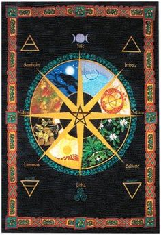 ✯ Wiccan Calendar Altar Cover ✯