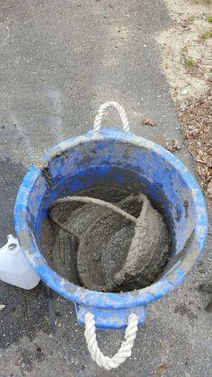 Turn Your Wicker Basket Into a Concrete Planter | Hometalk Z