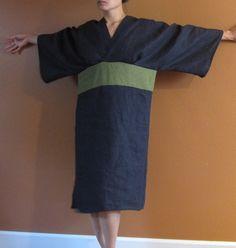 mangas del kimono origami lino puro vestido personalizadas orden listado