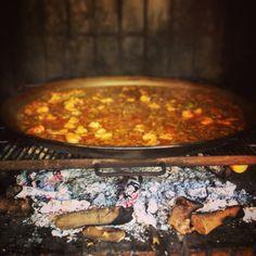 Controlando el fuego de la paella. Tardor2014