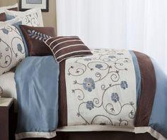 Lush Decor Royal Garden 8-Piece Comforter Set, Queen, Blue Lush Decor http://www.amazon.com/dp/B00C82YQV2/ref=cm_sw_r_pi_dp_aQd8tb04S90QM