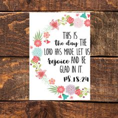 This Is The Day Ps. 18:24 Scripture Wall by PoseyLanePrintables