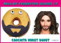 """Unsere Antwort auf Conchita Wurst :)  """"CONCHITA WURST DONUT"""""""