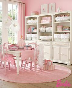 Pink playroom.