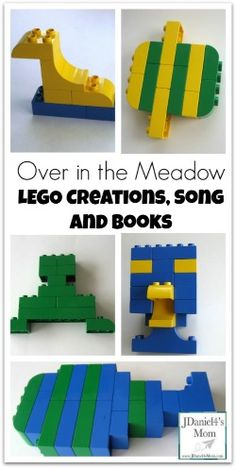 LEGO Animals Creations that go along with the song Over in the Meadow