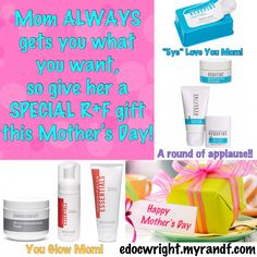 Mom ALWAYS gets you what you want!! This year, give Mom the gift she REALLY WANTS...YOUNGER LOOKING SKIN!! Message me to learn how to find the perfect Mother's Day gift!! & get 10% off with FREE shipping!!