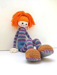 Crochet Doll Pattern  Bel Cute Crochet Amigurumi by daniandbel, €4.98