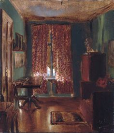 "urgetocreate: ""Adolph Menzel, The Artist's Sitting Room in Ritterstrasse, 1851 """