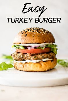 These healthy ground turkey burgers are moist and flavorful and have the best fresh seasoning blend. It's simple to learn how to make turkey burgers on the grill! Easy Turkey Burger Recipe, Turkey Burger Seasoning, Homemade Turkey Burgers, Ground Turkey Burgers, Best Turkey Burgers, Grilled Turkey Burgers, Greek Turkey Burgers, Healthy Ground Turkey, Ground Turkey Recipes