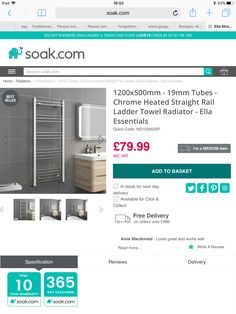 Home Radiators, Towel Radiator, Chrome, Shower, Bathroom, Rain Shower Heads, Washroom, Showers, Bathrooms