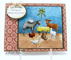 Nativity Scene Card by Candy S. - Cards and Paper Crafts at Splitcoaststampers