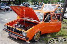 Orange VW Golf Mk1