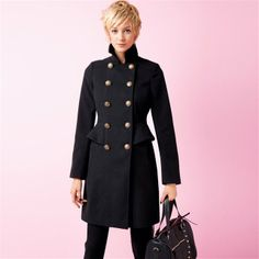 Mid-Length Military Style Double-Breasted Peplum Coat   http://www.laredoute.co.uk/mid-length-military-style-double-breasted-peplum-coat/prod-324408317-221813.aspx