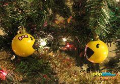 Pac Man Xmas decorations