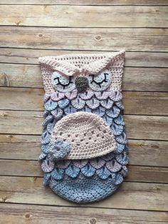 This listing is for a Pattern for a Crochet OWL COCOON and HAT SLEEPING PHOTO PROP (PDF FILE) Pattern will be available for immediate download following purchase!
