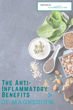 Ongoing research indicates that there are many anti-inflammatory benefits of magnesium. This article examines the important role magnesium plays in our overall health. Signs Of Magnesium Deficiency, Magnesium Foods, Magnesium Supplement Benefits, High Blood Pressure Readings, Avocado Benefits, Gastrointestinal Disease, Kidney Health, Coffee Benefits, Fatty Fish