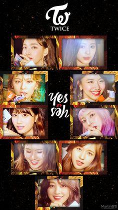 Twice YES or YES Jeongyeon Mina Momo Sana Nayeon Dahyun Chaeyoung Tzuyu Jihyo Wallpaper Lockscreen HD Fondo de pantalla iPhone Nayeon, K Pop, Twice Group, Twice Fanart, Jihyo Twice, Twice Once, Song Of The Year, Twice Dahyun, Extended Play