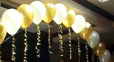 String of Pearls balloon Arch Golden Anniversary, 50th Wedding Anniversary, Anniversary Parties, Ballon Arch, Balloon Columns, Balloon Wall, Grad Parties, Birthday Parties, 65th Birthday
