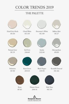 Benjamin Moore Color of the Year 2019, Metropolitan AF-690, is a gray, neutral paint color, which softens and calms. Effortlessly sophisticated, there are 15 colors in the Color Trends 2019 palette…