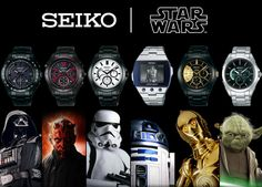 Limited Edition Seiko Star Wars Watches...I WANT THEM ALL!!!