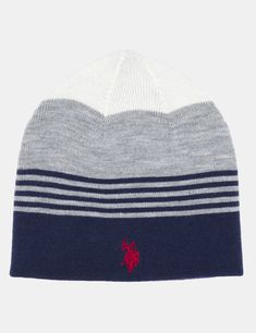 REV BLOCK STRIPE BEANIE - U.S. Polo Assn. 383fc83c94b9
