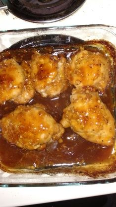 Make and share this Honey Garlic Chicken Thighs recipe from Food.com.