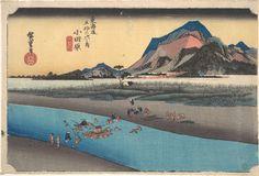 Odawara Sakogawa by Utagawa Hiroshige