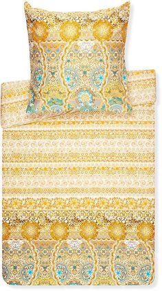 Schöne Bettwäsche »Caltagirone« der Marke Bassetti. Diese fantasievolle Bettwäsche aus der Granfoulard-Kollektion ist ein absoluter Hauptgewinn für Ihr Schlafzimmer. Sie besticht durch tolle Farben, ein antikes und doch modernes Design sowie die hochwertige sanforisierten Mako-Satin-Qualität, welche aus reiner merzerisierter, gekämmter Baumwolle besteht. Die Bettwäschegarnitur ist nicht nur pfl...