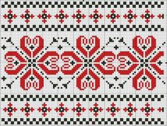 Border 08   Free chart for cross-stitch, filet crochet   Chart for pattern - Gráfico