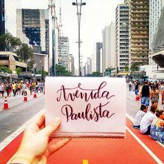 Avenida Paulista, São Paulo. Brushpen Calligraphy. Caligrafia Moderna.
