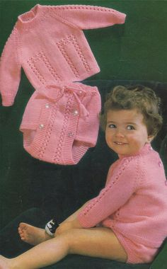 Baby Sweater and Pants PDF Knitting Pattern : Boys or Girls