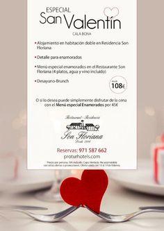 #RestauranteResidenciaSonFloriana #SanValentin #oferta  😄💞💞💞💞.  #Proturholidays www.proturhotels.com