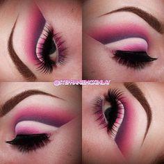 Pink cut crease eyeshadow look