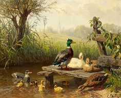 Google Image Result for http://upload.wikimedia.org/wikipedia/commons/0/00/Carl_Jutz_d%25C3%2584_Enten_am_Teich_1899.jpg