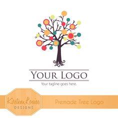 Logo Design Premade Tree Logo by KirstenLouiseDesigns on Etsy, £12.00